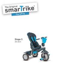 Trojkolky od 10 mesiacov - Trojkolka Splash 5v1 Blue smarTrike 360° riadenie s polohovateľnou opierkou modro-šedá od 10 mes_4