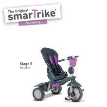 Trojkolky od 10 mesiacov - Trojkolka Splash 5v1 Purple smarTrike 360° riadenie s polohovateľnou opierkou fialovo-šedá od 10 mes_3