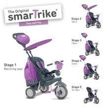 Trojkolky od 10 mesiacov - Trojkolka Splash 5v1 Purple smarTrike 360° riadenie s polohovateľnou opierkou fialovo-šedá od 10 mes_4
