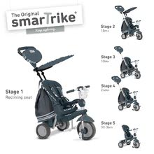 Tricikli Dazzle 5in1 smarTrike 360° irányítás dönthető háttámlával ezüst-szürke 10 hó-tól