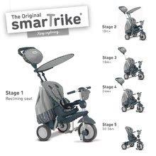 Tricikel Splash 5v1 Grey smarTrike 360° vodenje srebrno-siv od 10 mes