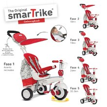 Tricikel Dazzle 5v1 Red&White Touch Steering smarTrike rdeče-siv