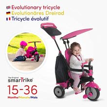 Trojkolky od 10 mesiacov - Trojkolka Glow 4v1 Touch Steering Black&Pink smarTrike ružovo-čierna od 10 mes_3
