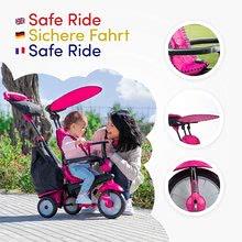 Trojkolky od 10 mesiacov - Trojkolka Glow 4v1 Touch Steering Black&Pink smarTrike ružovo-čierna od 10 mes_8