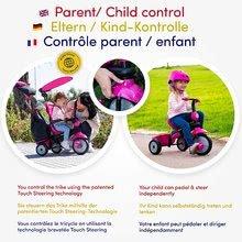 Trojkolky od 10 mesiacov - Trojkolka Glow 4v1 Touch Steering Black&Pink smarTrike ružovo-čierna od 10 mes_9