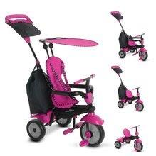 Trojkolky od 10 mesiacov - Trojkolka Glow 4v1 Touch Steering Black&Pink smarTrike ružovo-čierna od 10 mes_0