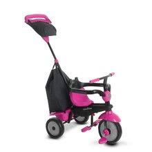 Trojkolky od 10 mesiacov - Trojkolka Glow 4v1 Touch Steering Black&Pink smarTrike ružovo-čierna od 10 mes_2