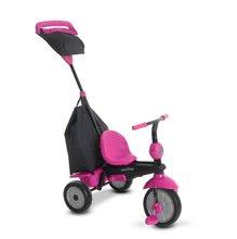 Trojkolky od 10 mesiacov - Trojkolka Glow 4v1 Touch Steering Black&Pink smarTrike ružovo-čierna od 10 mes_4