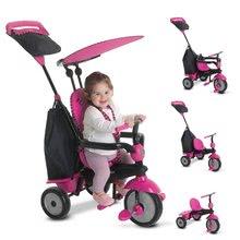 Trojkolky od 10 mesiacov - Trojkolka Glow 4v1 Touch Steering Black&Pink smarTrike ružovo-čierna od 10 mes_10
