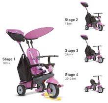 Trojkolky od 10 mesiacov - Trojkolka Shine 4v1 Touch Steering Grey&Pink smarTrike šedo-ružová od 10 mes_1