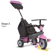Trojkolky od 10 mesiacov - Trojkolka Shine 4v1 Touch Steering Grey&Pink smarTrike šedo-ružová od 10 mes_7