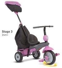 Trojkolky od 10 mesiacov - Trojkolka Shine 4v1 Touch Steering Grey&Pink smarTrike šedo-ružová od 10 mes_10