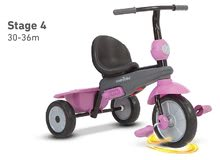 Trojkolky od 10 mesiacov - Trojkolka Shine 4v1 Touch Steering Grey&Pink smarTrike šedo-ružová od 10 mes_11