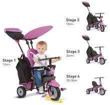 Trojkolky od 10 mesiacov - Trojkolka Shine 4v1 Touch Steering Grey&Pink smarTrike šedo-ružová od 10 mes_3