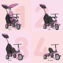 Trojkolky od 10 mesiacov - Trojkolka Shine 4v1 Touch Steering Grey&Pink smarTrike šedo-ružová od 10 mes_5