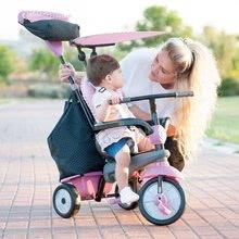 Trojkolky od 10 mesiacov - Trojkolka Shine 4v1 Touch Steering Grey&Pink smarTrike šedo-ružová od 10 mes_0