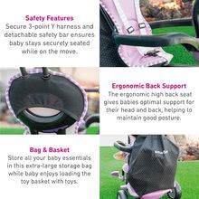 Trojkolky od 10 mesiacov - Trojkolka Shine 4v1 Touch Steering Grey&Pink smarTrike šedo-ružová od 10 mes_8