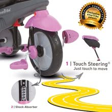 Trojkolky od 10 mesiacov - Trojkolka Shine 4v1 Touch Steering Grey&Pink smarTrike šedo-ružová od 10 mes_9