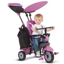 Trojkolky od 10 mesiacov - Trojkolka Shine 4v1 Touch Steering Grey&Pink smarTrike šedo-ružová od 10 mes_12
