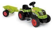Traktor na pedala Claas GM Smoby s prikolico zelen