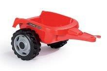 Vehicule cu pedală pentru copii - Tractor cu pedale RX Bull Smoby cu remorcă roşu_5
