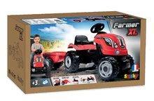 Vehicule cu pedală pentru copii - Tractor cu pedale RX Bull Smoby cu remorcă roşu_10