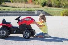 Vehicule cu pedală pentru copii - Tractor cu pedale RX Bull Smoby cu remorcă roşu_2