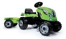 Traktor na pedala Farmer XL Smoby s prikolico svetlozelen