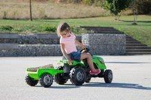 Dětská šlapací vozidla - Traktor na šlapání RX Bull Smoby s přívěsem zelený_6