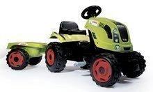 Traktor na šlapání Claas Farmer XL Smoby s přívěsem zelený