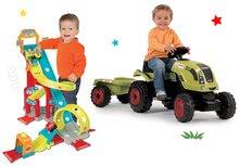 Set traktor na šliapanie Claas Farmer XL s prívesom a autodráha Vroom Planet Mega Jump SM710114-3