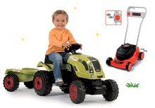 Set traktor na šliapanie Claas Farmer XL s prívesom a kosačka na trávu Black&Decker SM710114-5