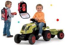 Set traktor na šliapanie Claas Farmer XL s prívesom a batoh s náradím Autá 3 s autíčkom SM710114-8