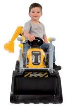 Otroška vozila na pedala - Traktor z bagrom in nakladalno roko Builder Max Smoby s prikolico, na pedale_0