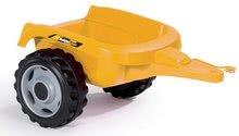 Otroška vozila na pedala - Traktor z bagrom in nakladalno roko Builder Max Smoby s prikolico, na pedale_3