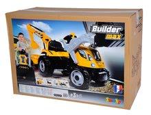Otroška vozila na pedala - Traktor z bagrom in nakladalno roko Builder Max Smoby s prikolico, na pedale_14