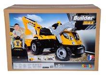 Otroška vozila na pedala - Traktor z bagrom in nakladalno roko Builder Max Smoby s prikolico, na pedale_15