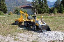Otroška vozila na pedala - Traktor z bagrom in nakladalno roko Builder Max Smoby s prikolico, na pedale_6