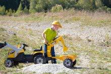 Otroška vozila na pedala - Traktor z bagrom in nakladalno roko Builder Max Smoby s prikolico, na pedale_8