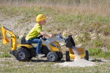 Otroška vozila na pedala - Traktor z bagrom in nakladalno roko Builder Max Smoby s prikolico, na pedale_12
