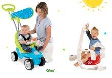 Set babytaxiu Bubble Go Smoby cu melodii şi oliţă maşină cu volan şi cu claxon de la 6 luni
