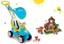 Szett bébitaxi Bubble Go Smoby dallamokkal és építőjáték PlayBIG Bloxx Mása és a medve a hegyi házikóban 6 hónapos kortól