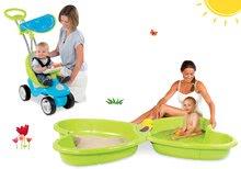 Set babytaxiu Bubble Go Smoby cu melodii şi nisipar Fluture cu jet de apă de la 6 luni