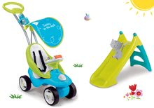 Set babytaxiu Bubble Go Smoby cu melodii şi tobogan de apă Toboggan XS Smoby de la 6 luni