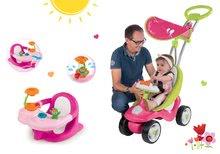 Set babytaxiu Bubble Go Smoby cu copertină şi scaun de baie roz de la vârsta de 6 luni de la 6 luni