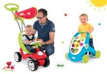 Set babytaxiu Bubble Go Smoby cu sunet şi premergător dezvoltător de abilităţi Cotoons cu cuburi de la 6 luni