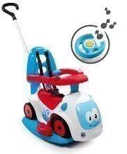 Babytaxiu Maestro III Balade Smoby cu leagăn şi volan electronic de la vârsta de 6 luni albastru-alb de la 6 luni