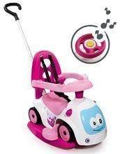 Babytaxiu Maestro III Balade Smoby cu leagăn şi cu volan electronic de la vârsta de 6 luni alb-roz de la 6 luni