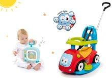 Set babytaxiu Maestro II Balade Smoby cu leagăn şi televizor de jucărie Cotoons muzical de la 6 luni