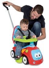 Babytaxiu Maestro Confort Smoby cu leagăn, cu strat din textil și cu volan electronic roşu de la 6 luni